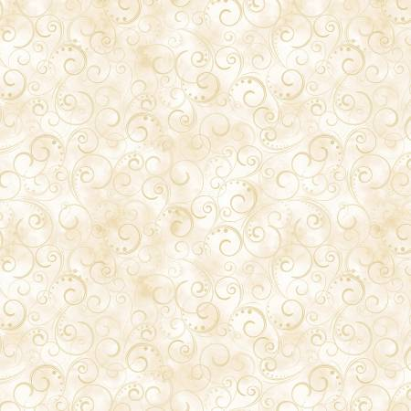 Cream Swirling Splendor 108in Wide Back