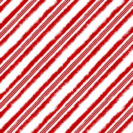 Red Diagonal Candy Cane Stripe