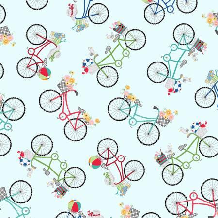 Kimberbell Boardwalk Blue Bicycles MAS9712-B