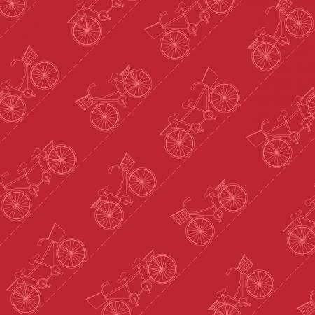 Vintage BoardWalk Red Diagonal Bikes
