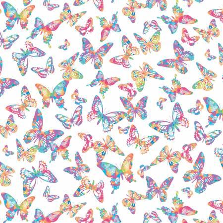 White Aloha Butterflies