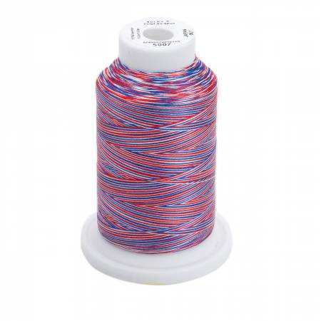 Polylite Thread 60wt Variegated 1650yd American Flag