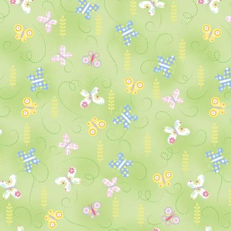 Hippity Hoppity Green Springtime Butterflies 9763-04