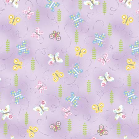 Hippity Hoppity Lilac Springtime Butterflies 9763-06
