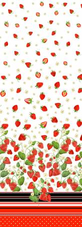 White Strawberry Fields Border