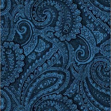 Blue Paisley 108 Wide Backing *