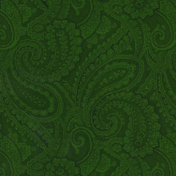 Contemporary Paisley Dk Green- 110