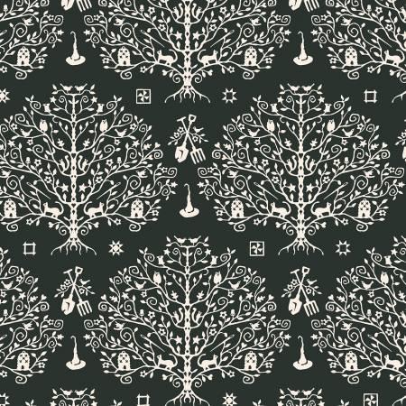 Spellcaster's Garden-Paper Cut Tree-Charcoal