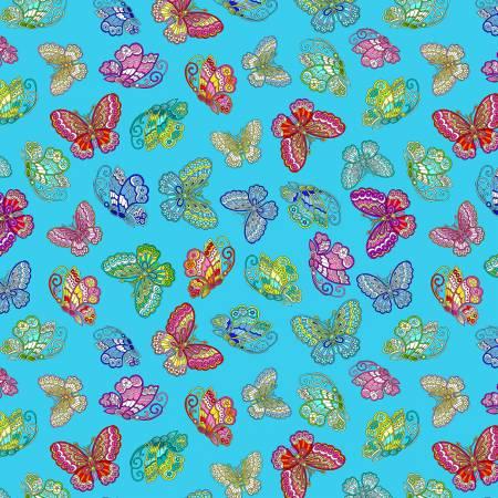 Turquoise Dazzling Butterflies