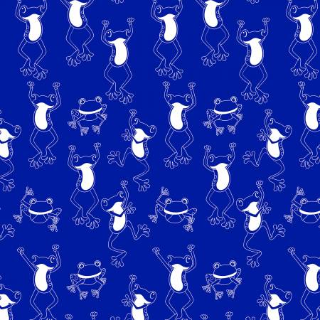 Toadally Cool - Royal Hop To It Glow in the Dark Fabric