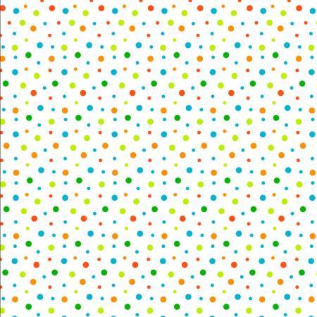 KANVAS White Cool Dots Glow in the Dark FabriC 9831GLB-09