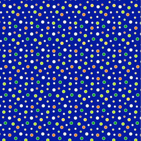 Royal Cool Dots Glow in the Dark Fabric