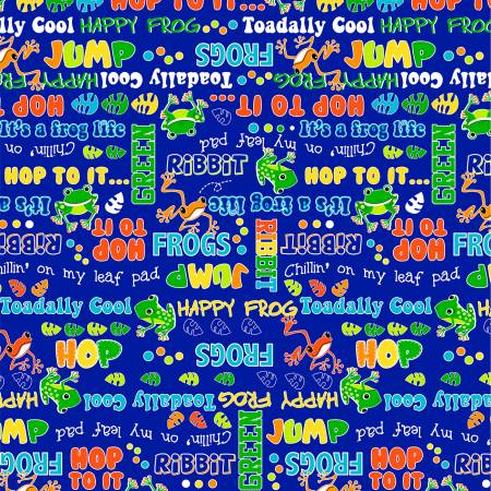 Toadally Cool - Royal Say Ribbit Glow in the Dark Fabric