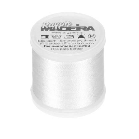 Rayon Embroidery Thread 40wt 220yds Bright White