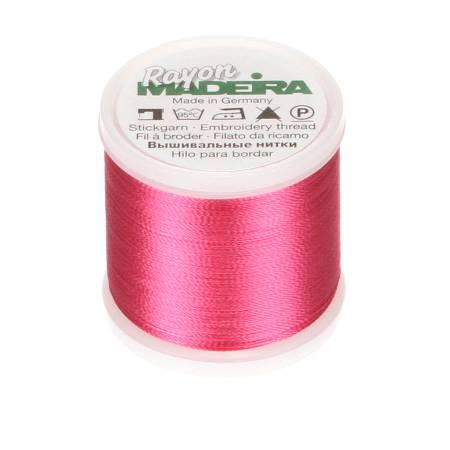 Madeira Deep Rose Rayon Embroidery Thread 40wt 220yds