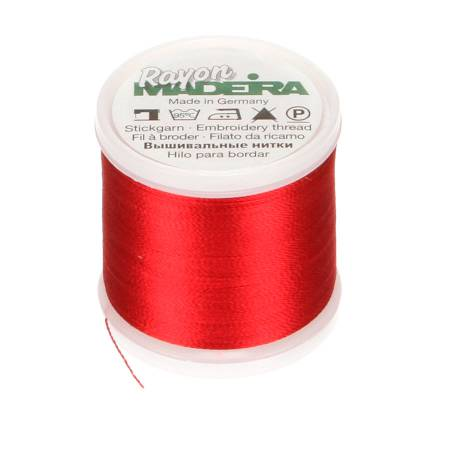 Rayon Embroidery Thread 40wt 220yds Christmas Red