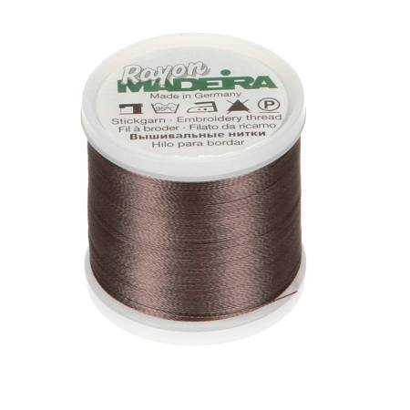 Madeira Charcoal Grey Rayon Embroidery Thread 40wt 220yds