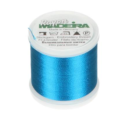 Madeira Bright Peacock Rayon Embroidery Thread 40wt 220yds