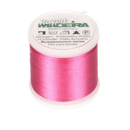 Madeira Hot Pink Rayon Embroidery Thread 40wt 220yds