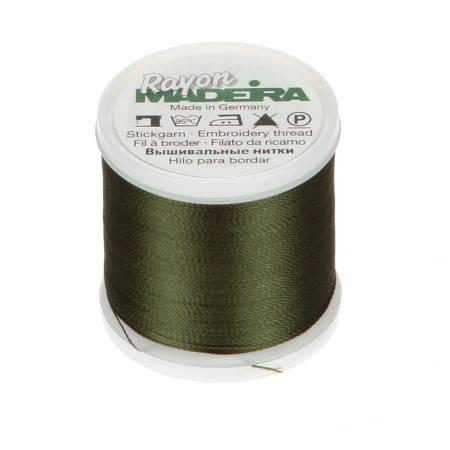 Madeira Rayon Embroidery Thread 40wt 220yds Dark Army Green