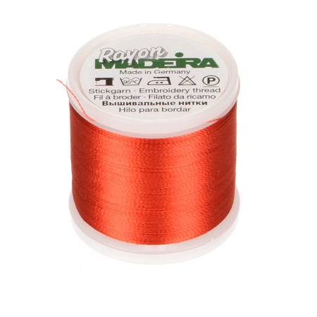 Rayon Embroidery Thread 40wt 220yds Orange Red
