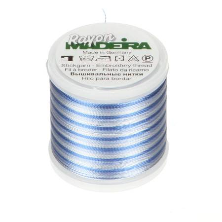Madeira Ombre Pastel Blue Rayon Embroidery Thread 40wt 220yds