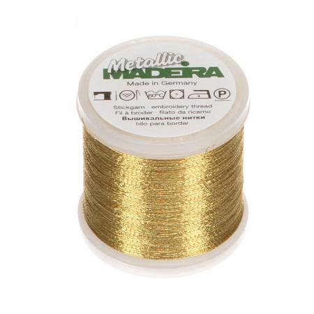 MADEIRA Metallic Nylon/Polyester Embroidery Thread 40wt 220yds Traditional Gold