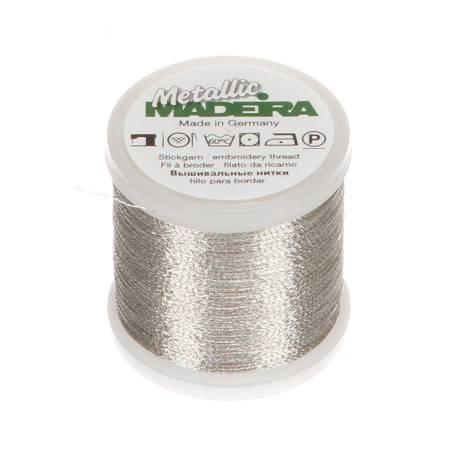 MADEIRA Metallic Nylon/Polyester Embroidery Thread 40wt 220yds Silver