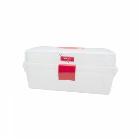 Bohin Clear Sewing Box 10in x 6in Removable Tray