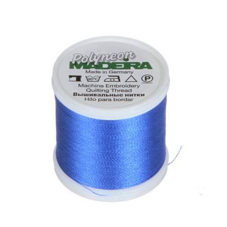 Polyneon Polyester Embroidery Thread 2-ply 40wt 135d 440yds Blue Medium