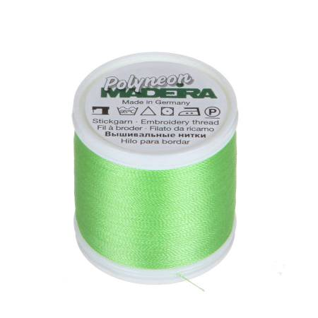 Polyneon Polyester Embroidery Thread 2-ply 40wt 135d 440yds Lime Green