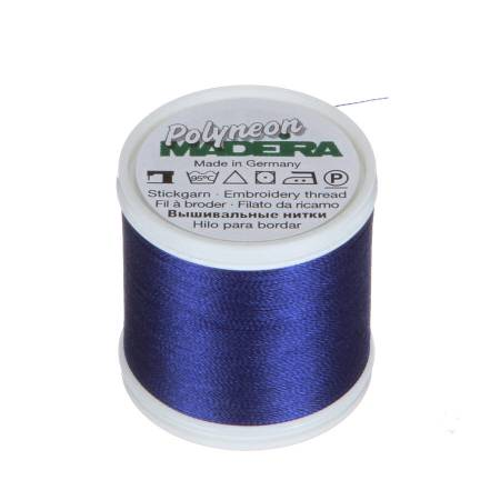 Polyneon Polyester Embroidery Thread 2-ply 40wt 135d 440yds Fire Blue