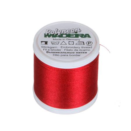 Polyneon Polyester Embroidery Thread 2-ply 40wt 135d 440yds Foliage Red