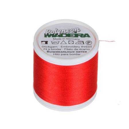 Polyneon Polyester Embroidery Thread 2-ply 40wt 135d 440yds Poppy Red