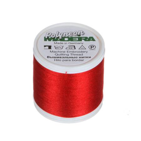 Polyneon Polyester Embroidery Thread 2-ply 40wt 135d 440yds Christmas Red