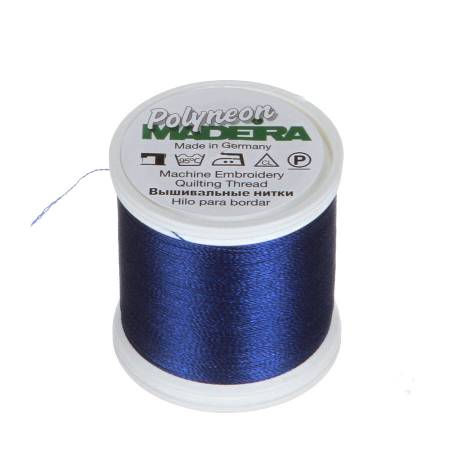 Polyneon Polyester Embroidery Thread 2-ply 40wt 135d 440yds Bright Blue