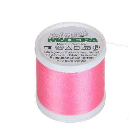 Polyneon Polyester Embroidery Thread 2-ply 40wt 135d 440yds Bright Pink