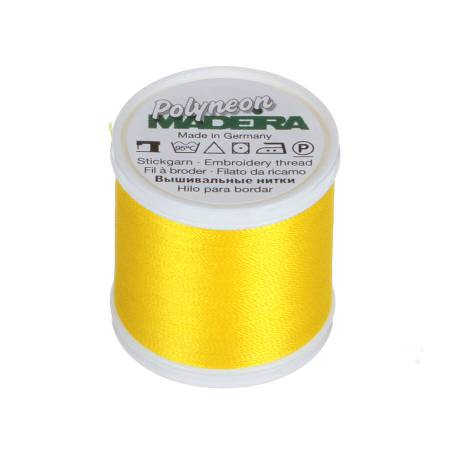 Polyneon Polyester Embroidery Thread 2-ply 40wt 135d 440yds Bright Yellow