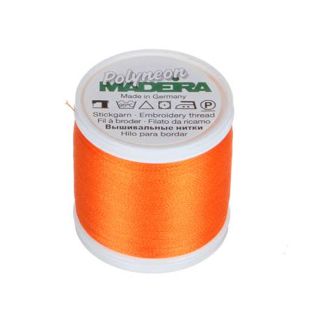 Polyneon Polyester Embroidery Thread 2-ply 40wt 135d 440yds Pumpkin