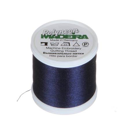 Polyneon Polyester Embroidery Thread 2-ply 40wt 135d 440yds Navy Blue