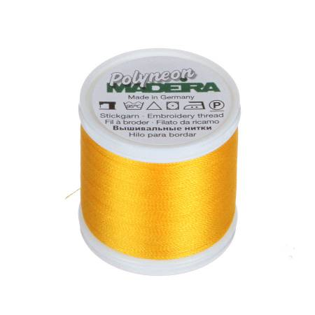 Polyneon Polyester Embroidery Thread 2-ply 40wt 135d 440yds Canary Gold