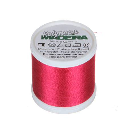 Polyneon Polyester Embroidery Thread 2-ply 40wt 135d 440yds Strawberry