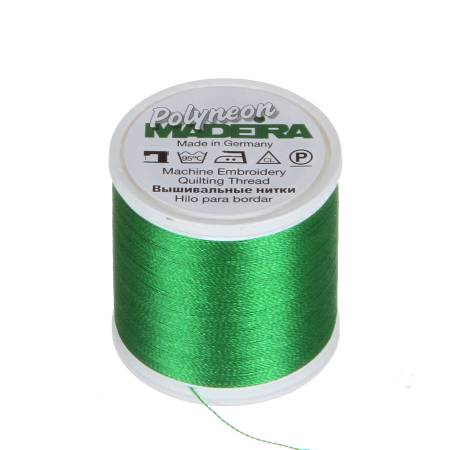 Polyneon Polyester Embroidery Thread 2-ply 40wt 135d 440yds Grass Green