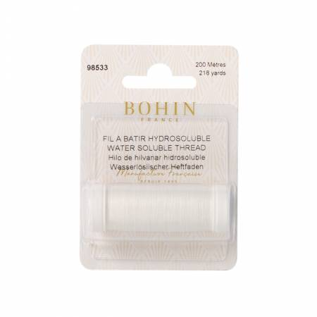 Bohin Water Soluble Thrd White 220yd