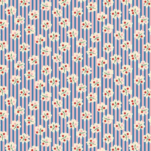 Blue/Pink Bud Stripe