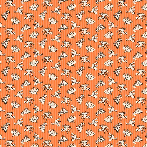 Wilmington Prints Orange Circus Toss #98562