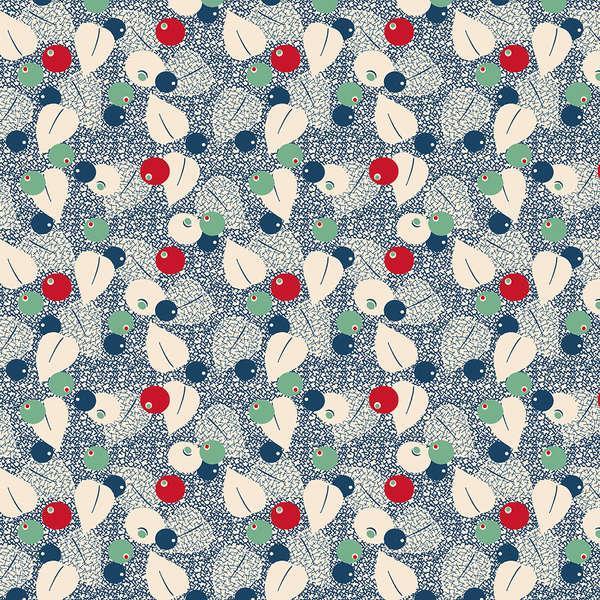 Blue Berries & Leaves