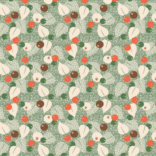 Wilmington Green Berries & Leaves #98565-178