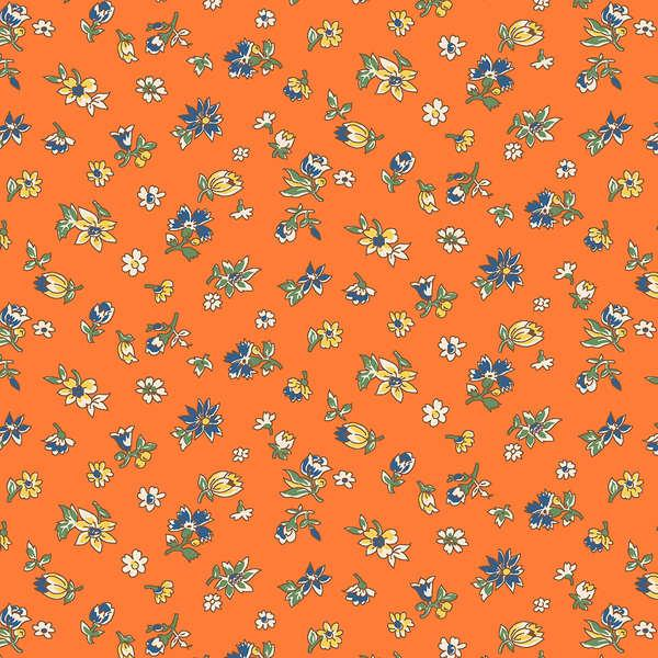 Wilmington Orange Small Floral #98566