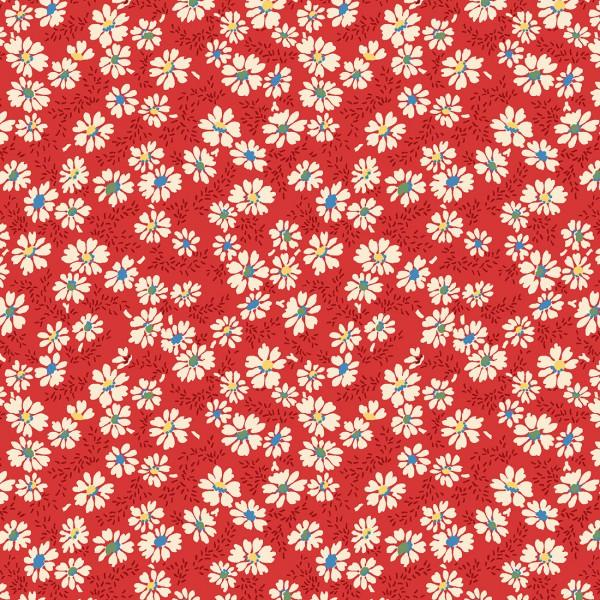 Wilmington Prints - Summer Days - Red Daisies